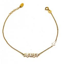 Χρυσό βραχιόλι GOB006